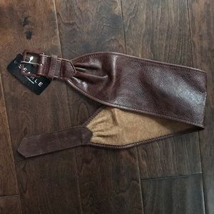 Accessories - New Brown Leather Belt Searle Small